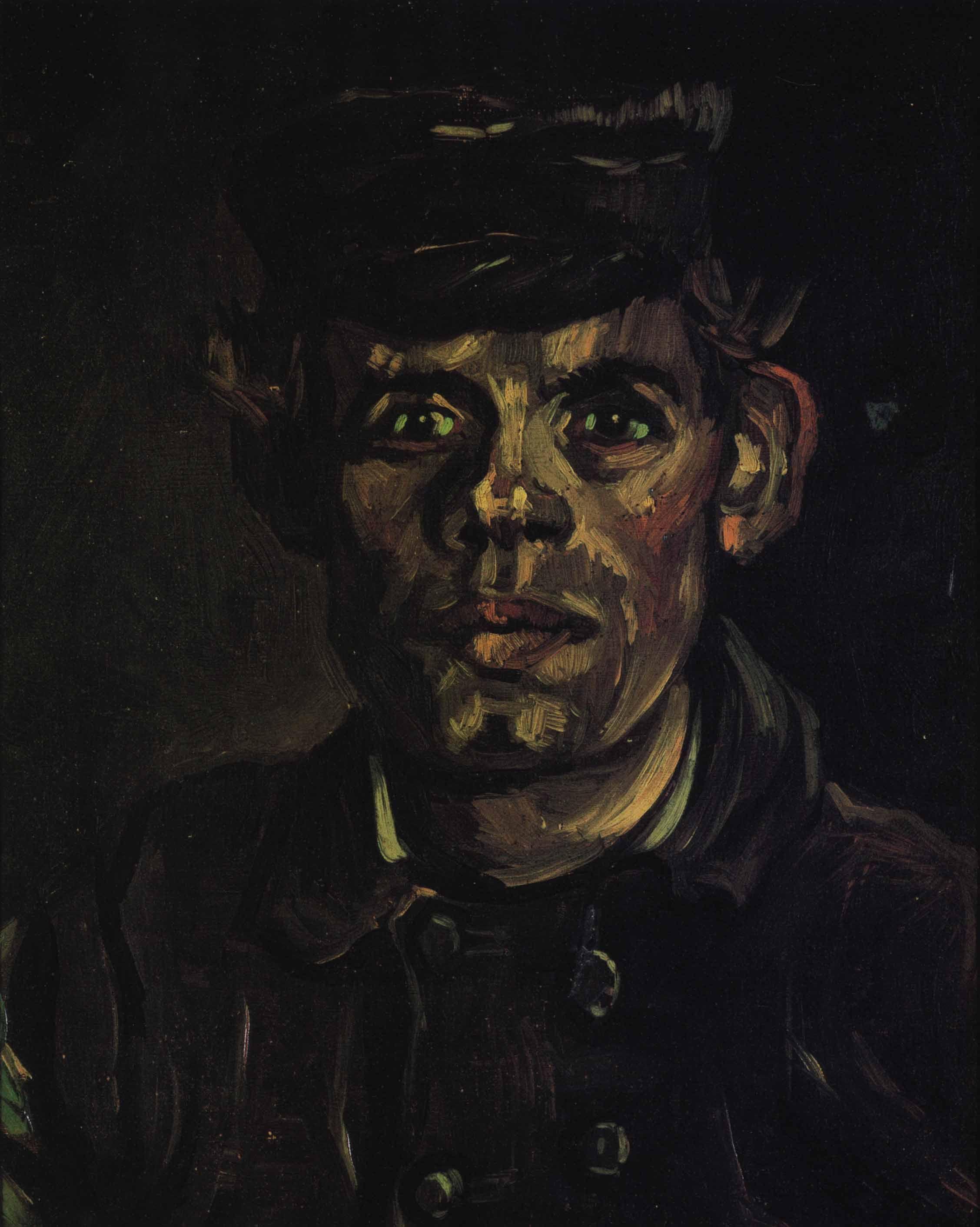 1885  Vincent Van Gogh   Peasant  oil Oil on canvas  39x30.5 cm  Bruxelles, Koninkijke Musea voor Shone Kunsten