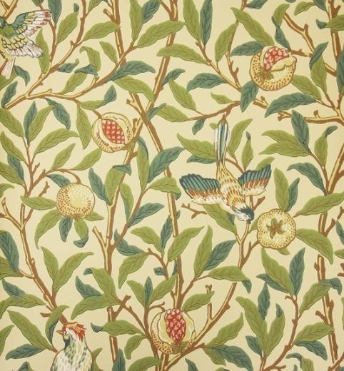 William Morris Bird And Pomegranate 212539 Wallpaper At Tallantyre Interiors William Morris Wallpaper Morris Wallpapers Old Wallpaper