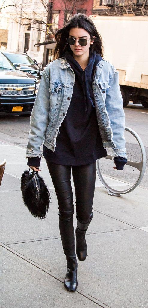 Dark Denim Shirt | Fashion, Street style, Kendall jenner style