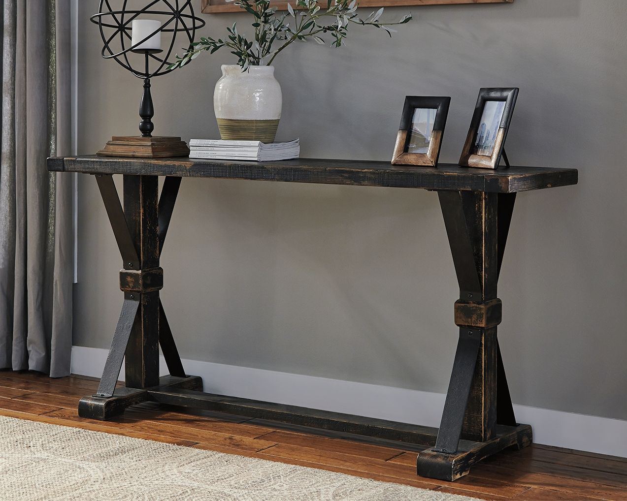 Phenomenal Beckendorf Sofa Console Table Products In 2019 Black Interior Design Ideas Inesswwsoteloinfo