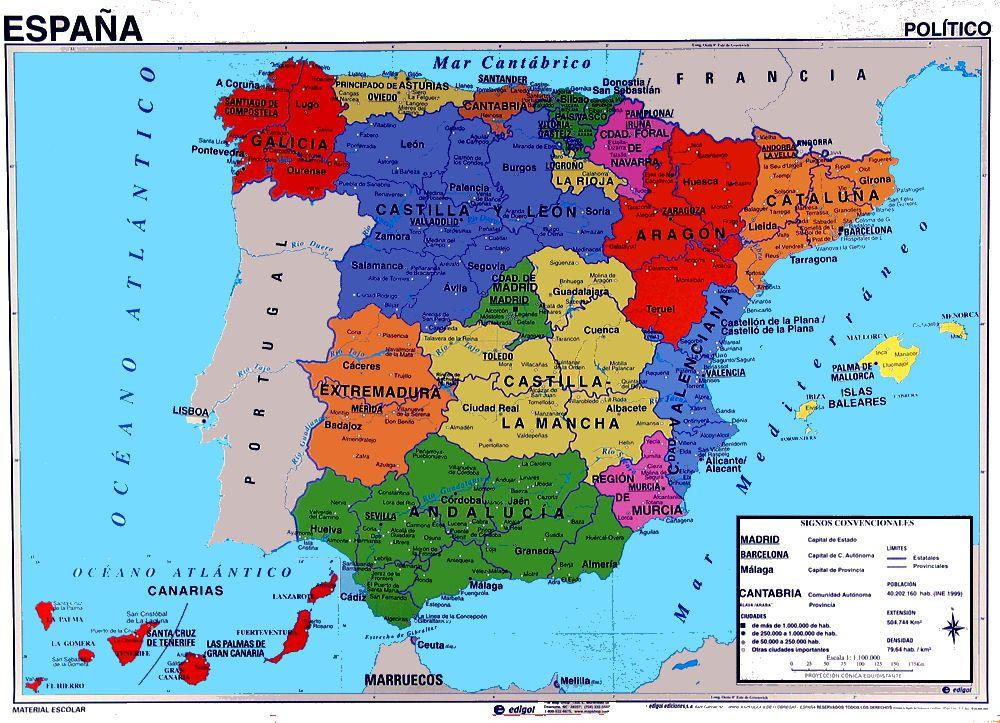 Mapspainpoliticaljpg Cool Breeze Pinterest - Spain political map
