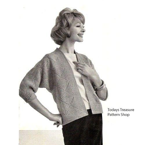 Easy Crochet Cardigan Pattern In Diamond Motif Small Medium