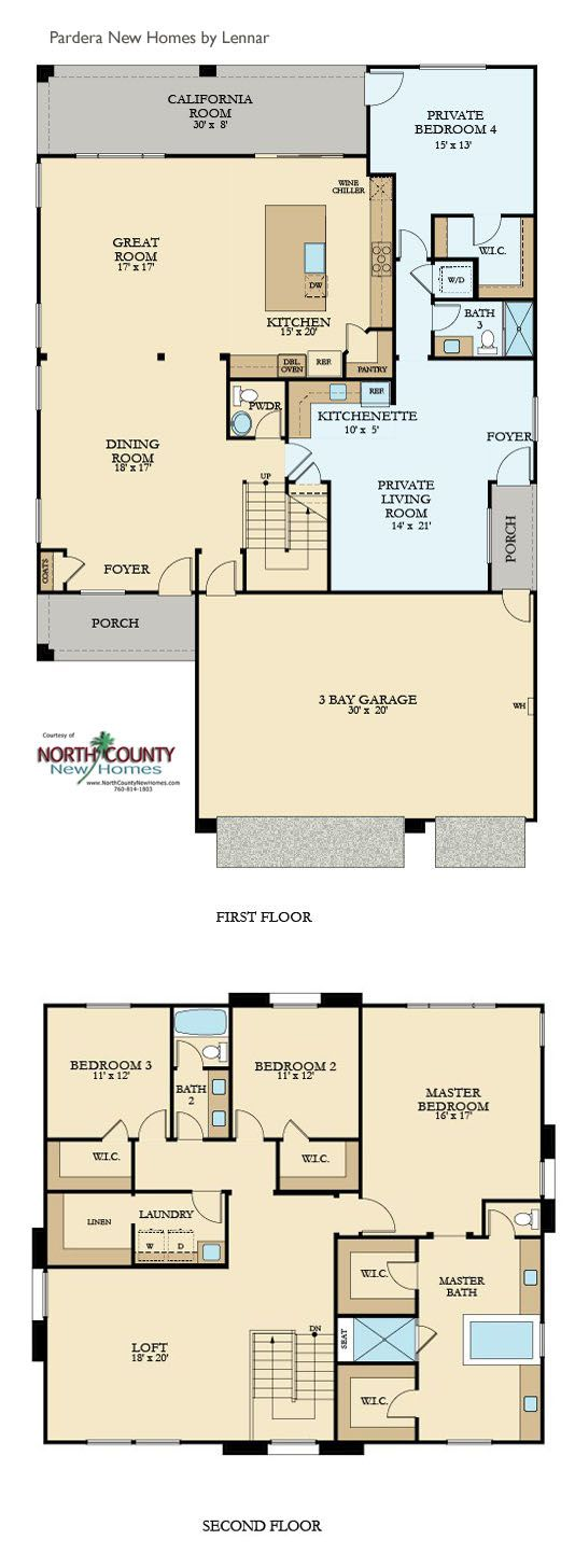 Pradera New Homes in Escondido Floor Plans North County New Homes