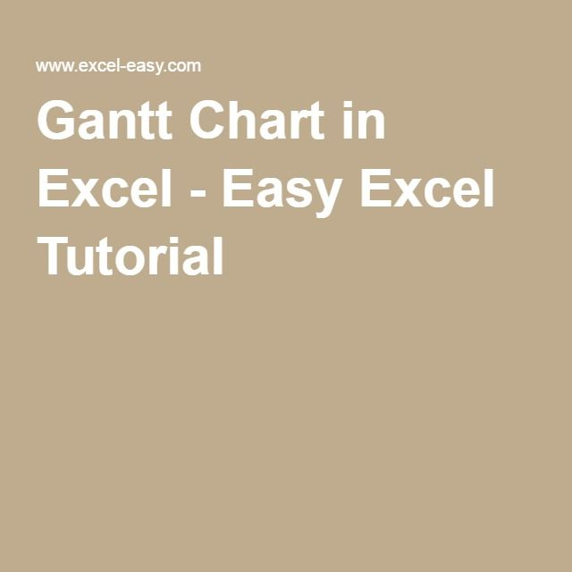 Gantt Chart in Excel Tutorials and Microsoft excel
