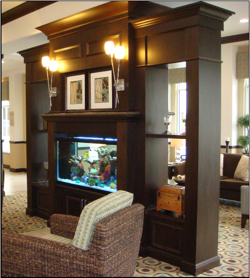 built in fish tank but full wall dividing kitchen and dining room rh pinterest com