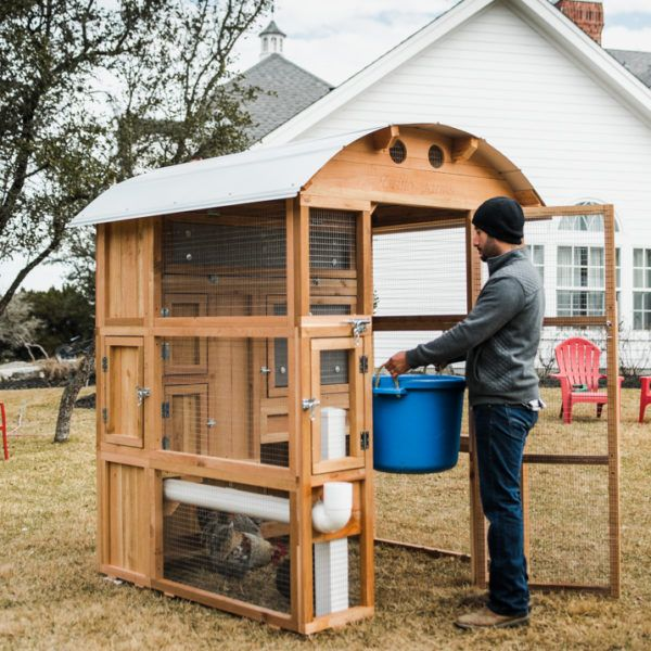round top stand up chicken coop chicks chickens backyard rh pinterest com