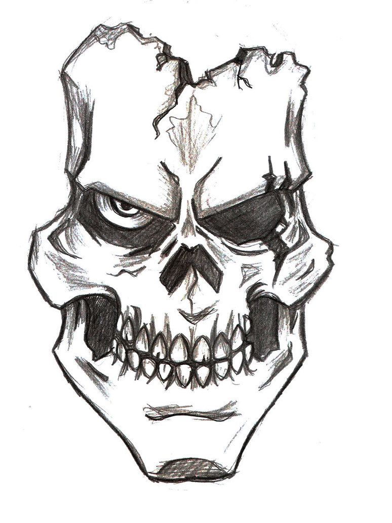 How to Draw a Skull: very cool,simple and easiest way