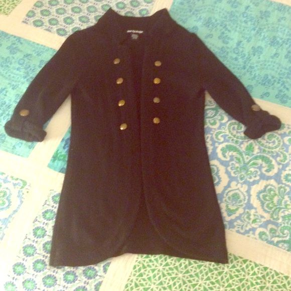 Womens Black Military Style Cardigan Great condition - very gently used - little signs of wear Sweaters Cardigans