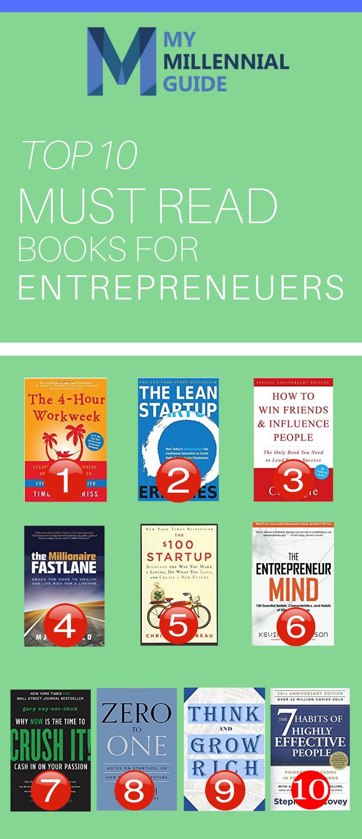 The 10 Best Books For Entrepreneurs In 2018 Millennial Survival