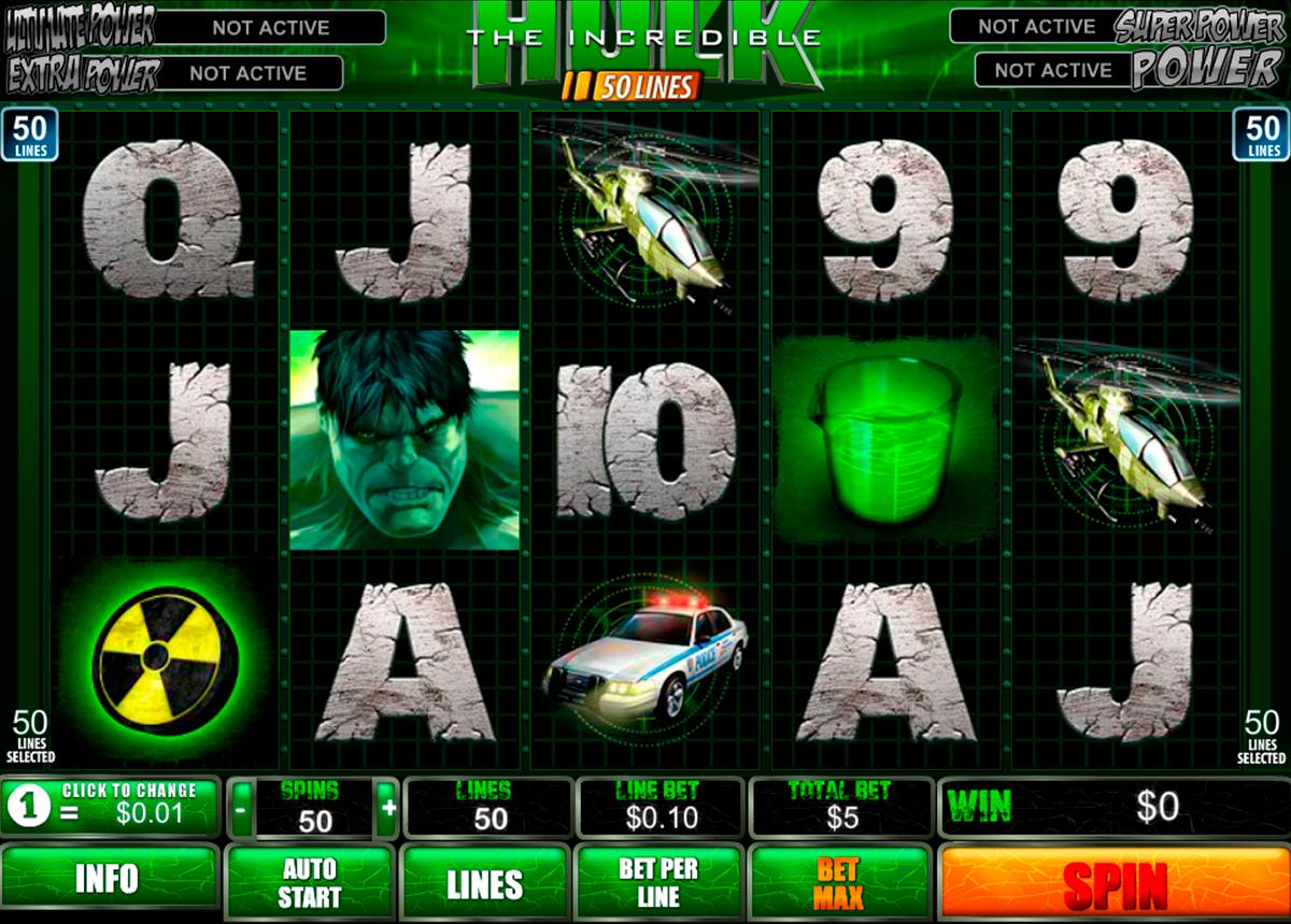 The Incredible Hulk 50 lines on tosi hyvää ja valtava kolikkopeli netissä! Pelissa on kaikkilla mahdolisuus voitta suuret rahsummat istua vain kotona ja pelaa erikoset kasnopelit ja rahapelit netissä!