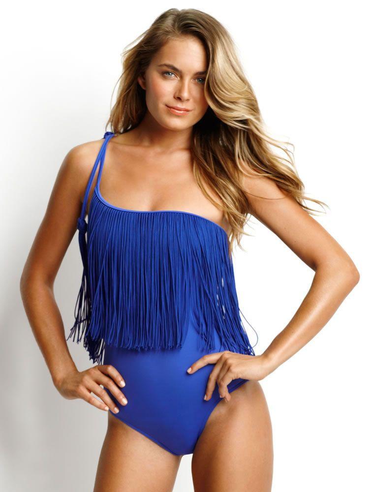 Bikini Fransen Push up Tassel Bandeau Fringe Beachwear Bademode S M L