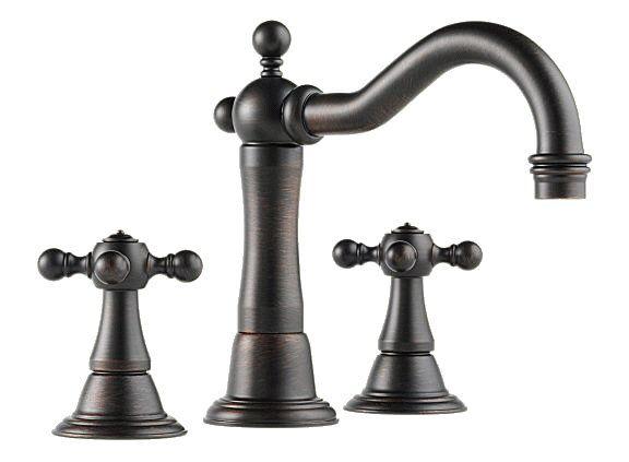 brizo tresa series two handle wide spread bathroom faucet on faucet rh pinterest com