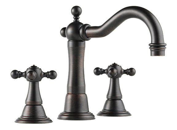 Brizo Tresa Series Two Handle Wide Spread Bathroom Faucet on Faucet ...