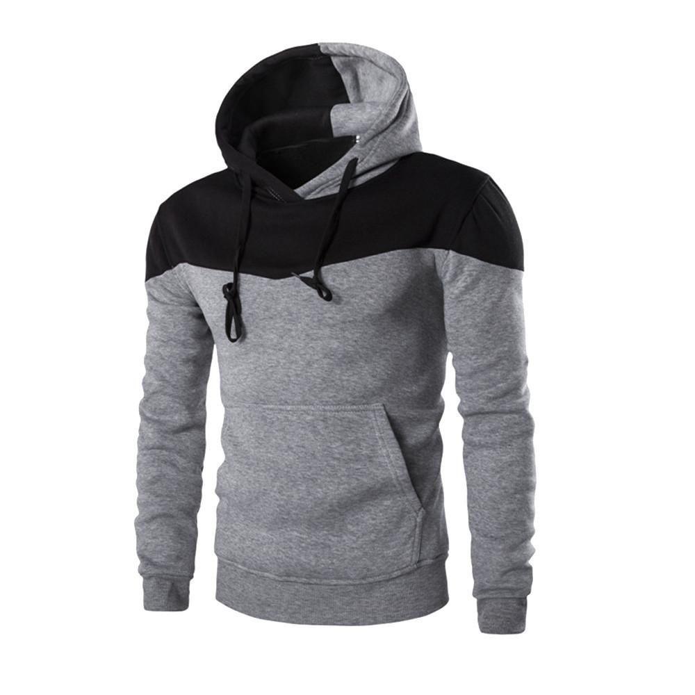 Men S Slim Fit Two Tone Sweater Hoodie Mens Sweatshirts Hoodie Hoodies Men Sweatshirts Hoodie [ 1000 x 1000 Pixel ]