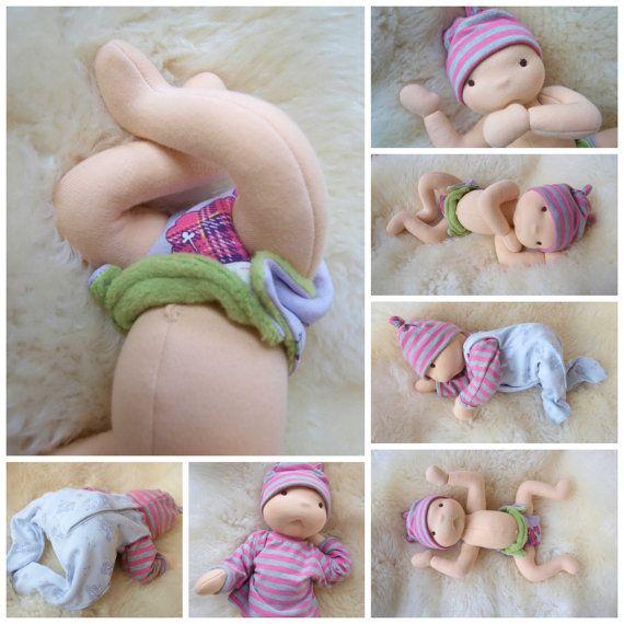 Waldorf inspired baby doll - nurture baby boy Pavlík | Bebê ...