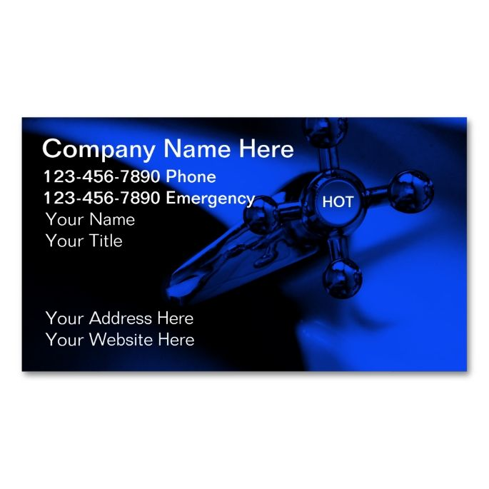 Plumber Business Cards Zazzle Com Cool Business Cards Business Cards Online Business Card Design