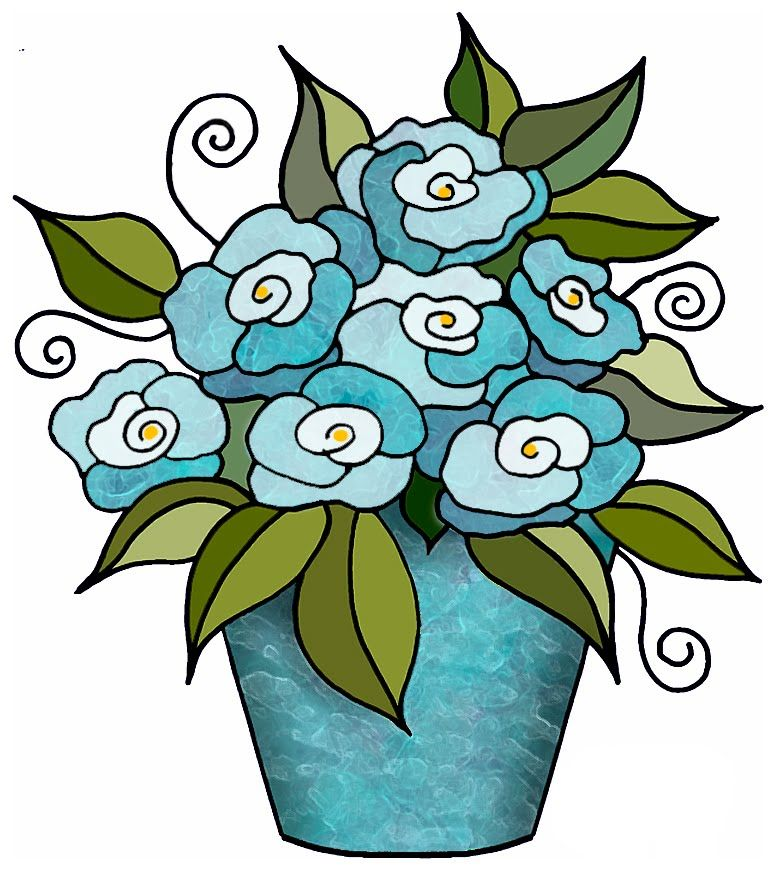 artbyjean clipart flower pot Flowers in Bunches CRAFTY