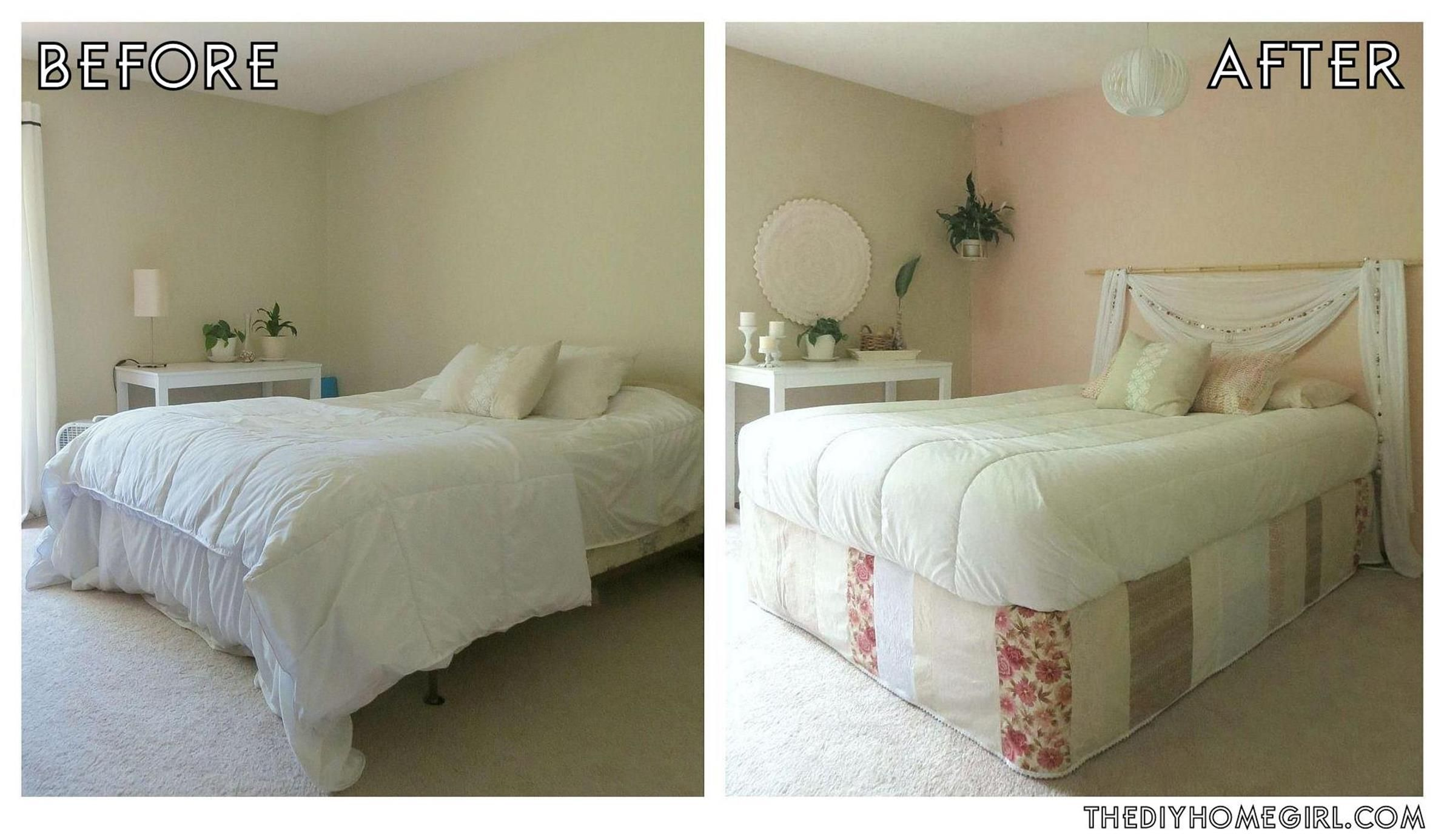 20 DIY Small Bedroom Makeover On a