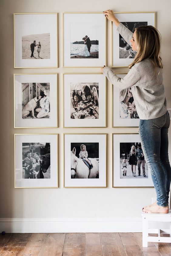 Picture Frame Wall | Adult-ish living | Pinterest | Home Decor, Home ...
