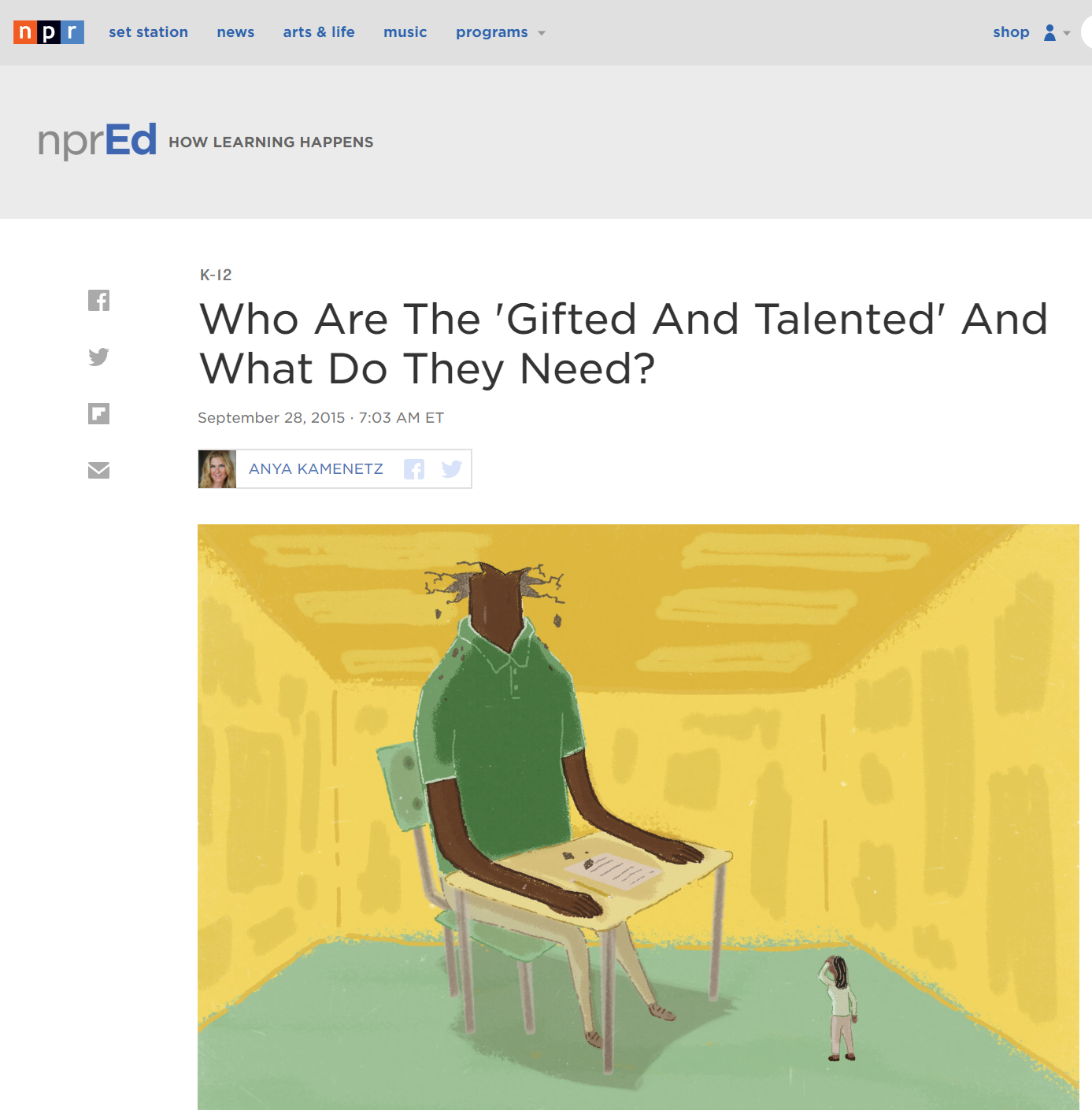 Who Are Gifted And Talented And What Do >> Who Are The Gifted And Talented And What Do They Need Gifted
