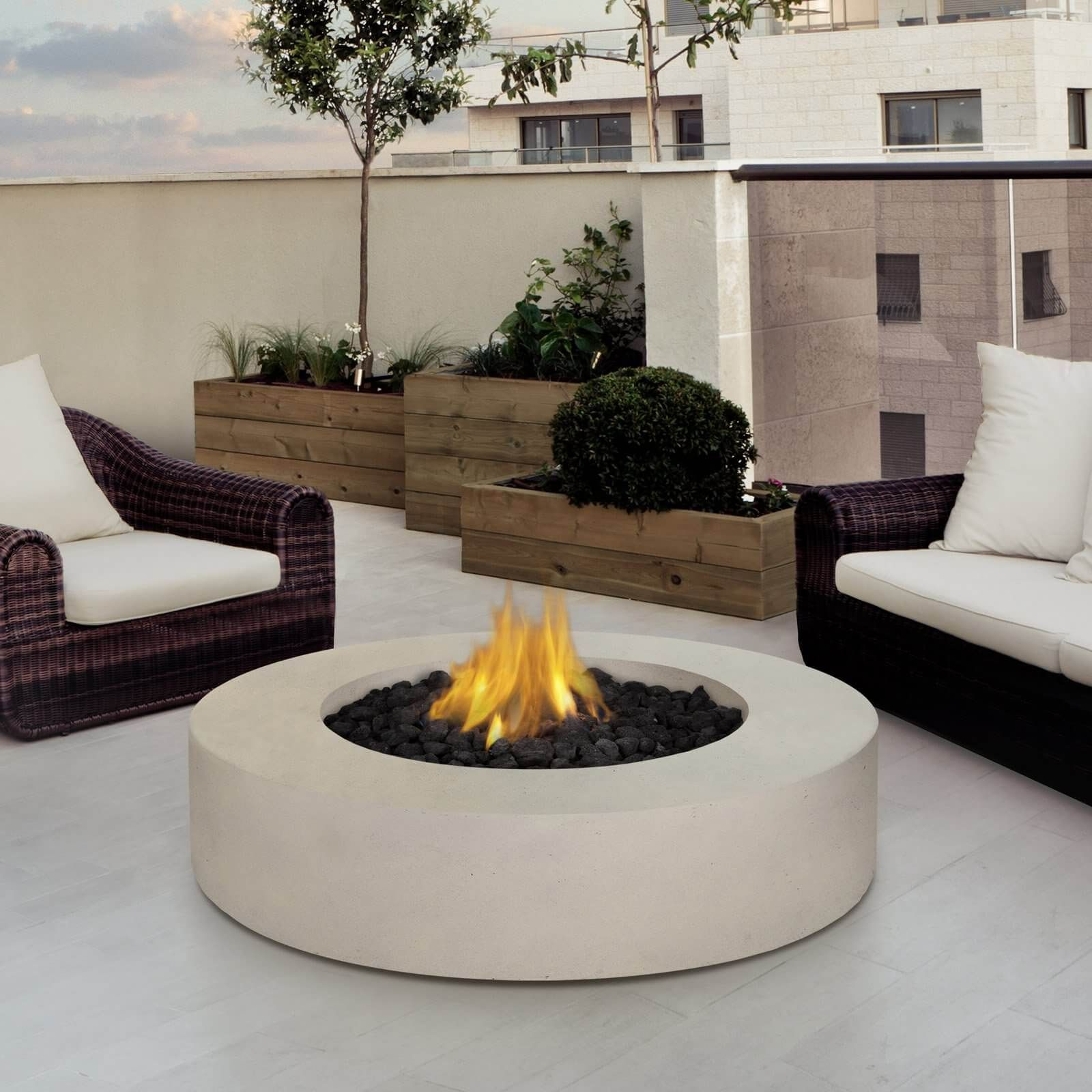 Beautiful Interior Fire Pit Part - 6: Top 15 Types Of Propane Patio Fire Pits With Table (Buying Guide)