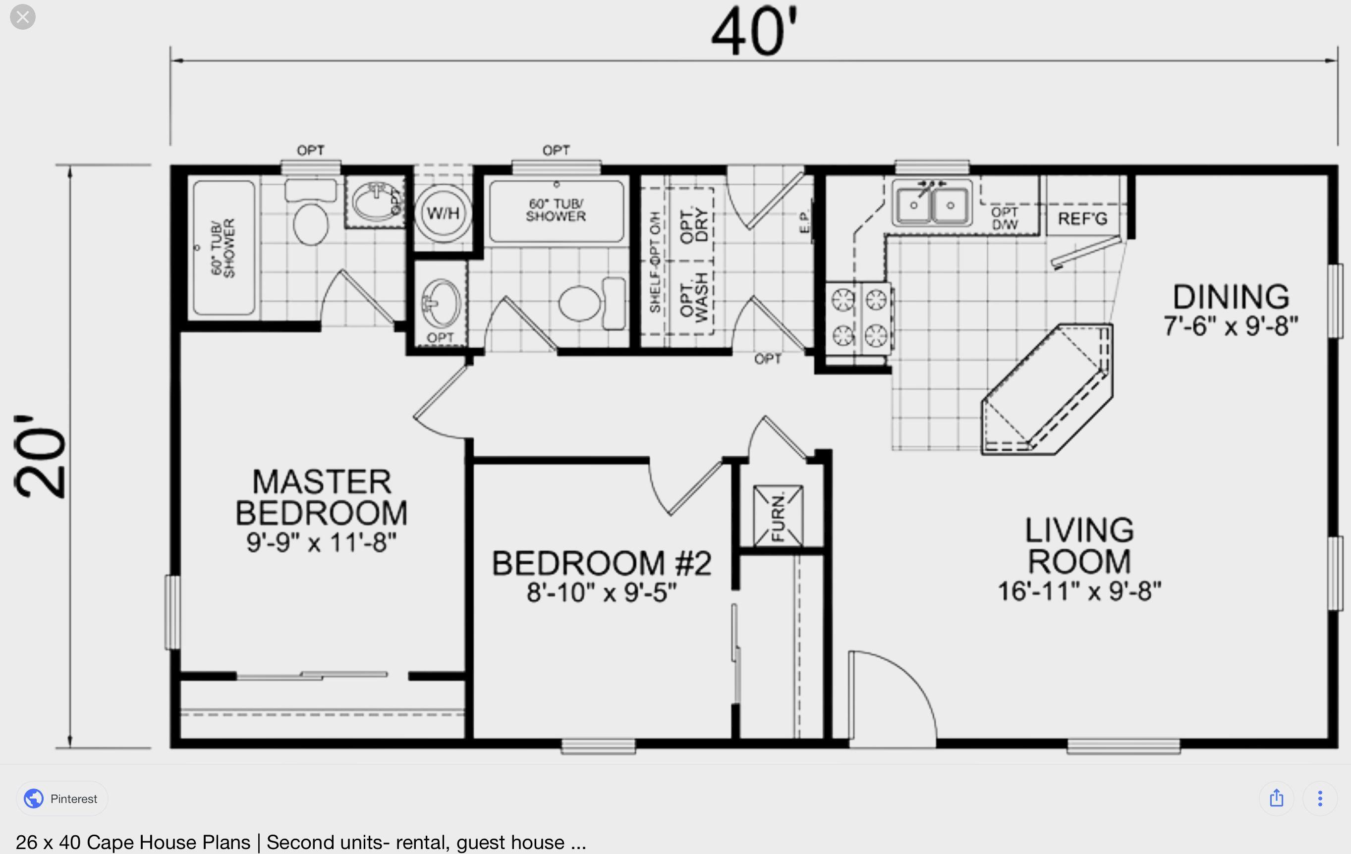 pin by adrian gonzalez on guest house kitchen floor plans tiny rh pinterest com