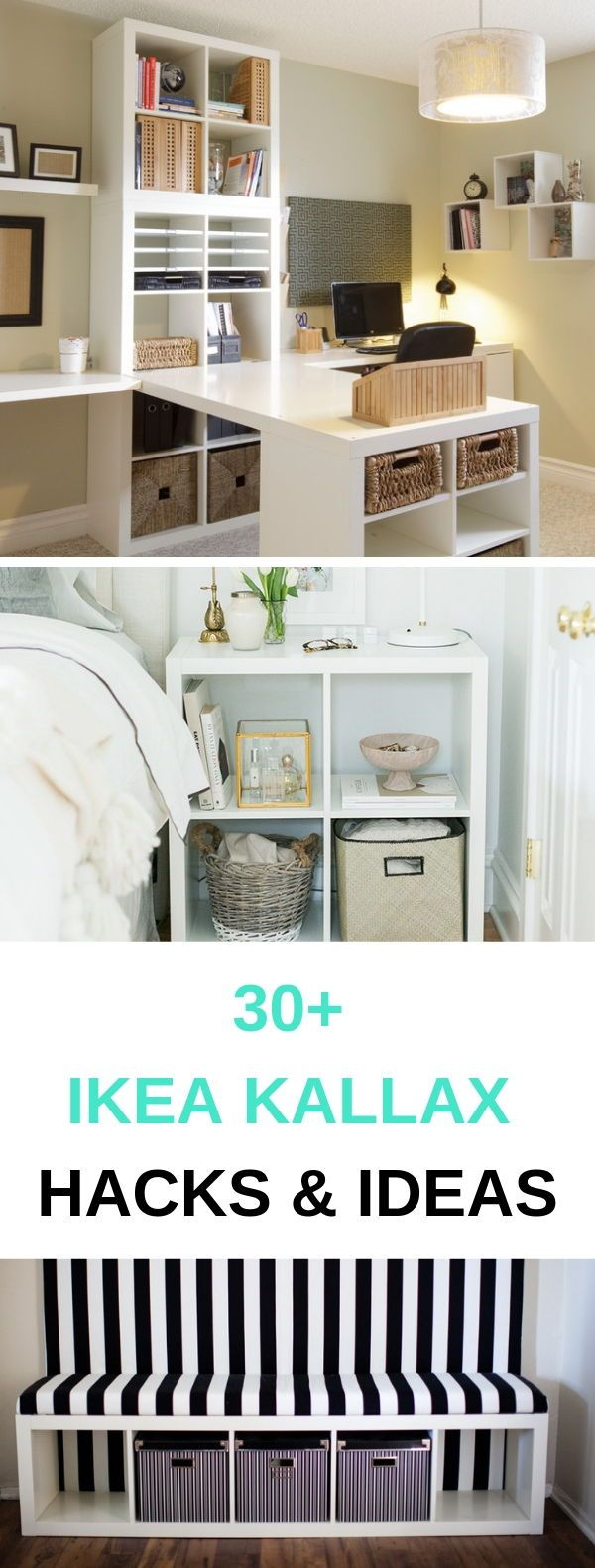 30+ Ikea Kallax Inspiration, Ideas & Hacks For Every Room #ikeaideen