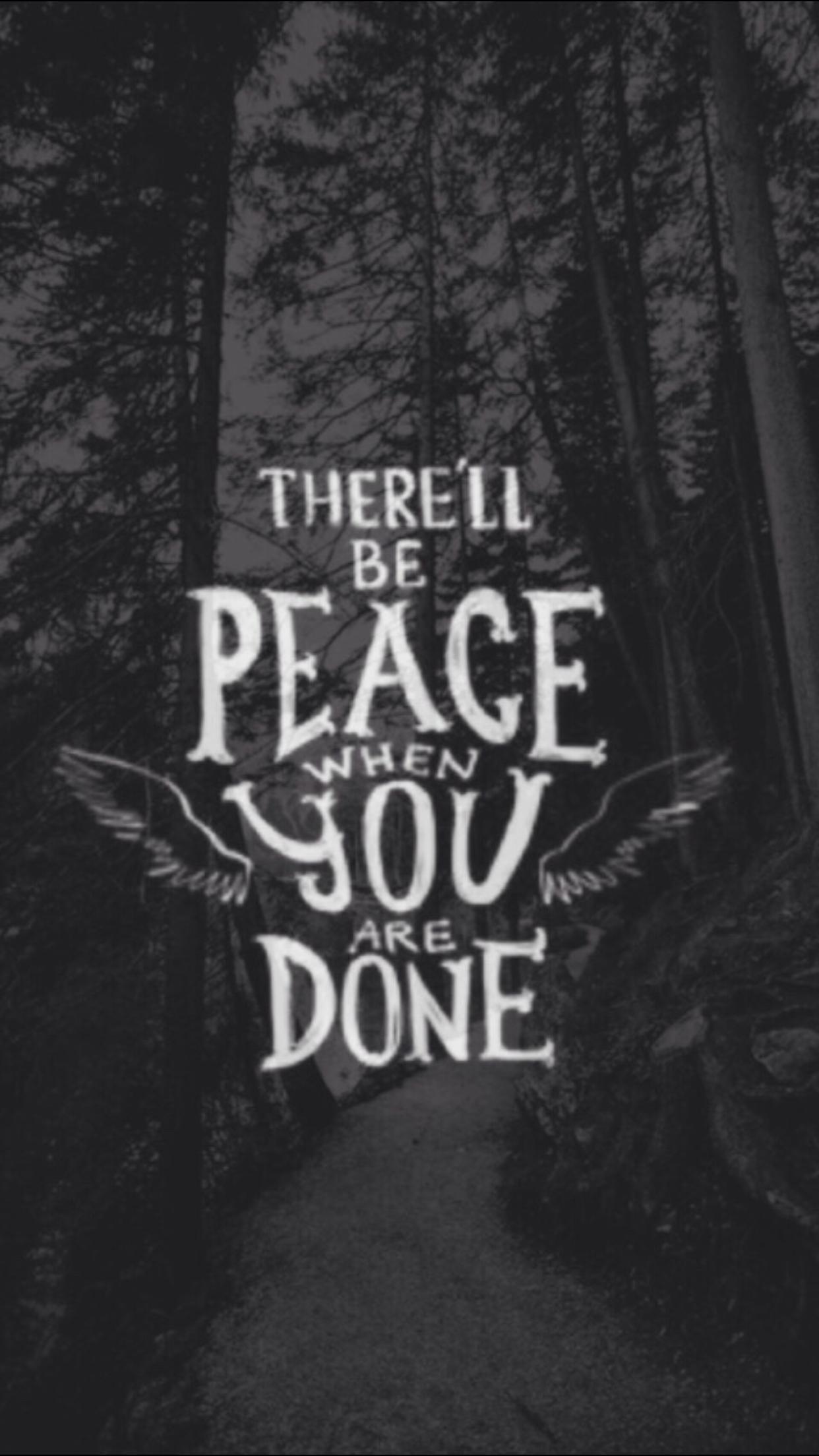 Haver paz quando voc est feito frases pinterest - Supernatural phone background ...