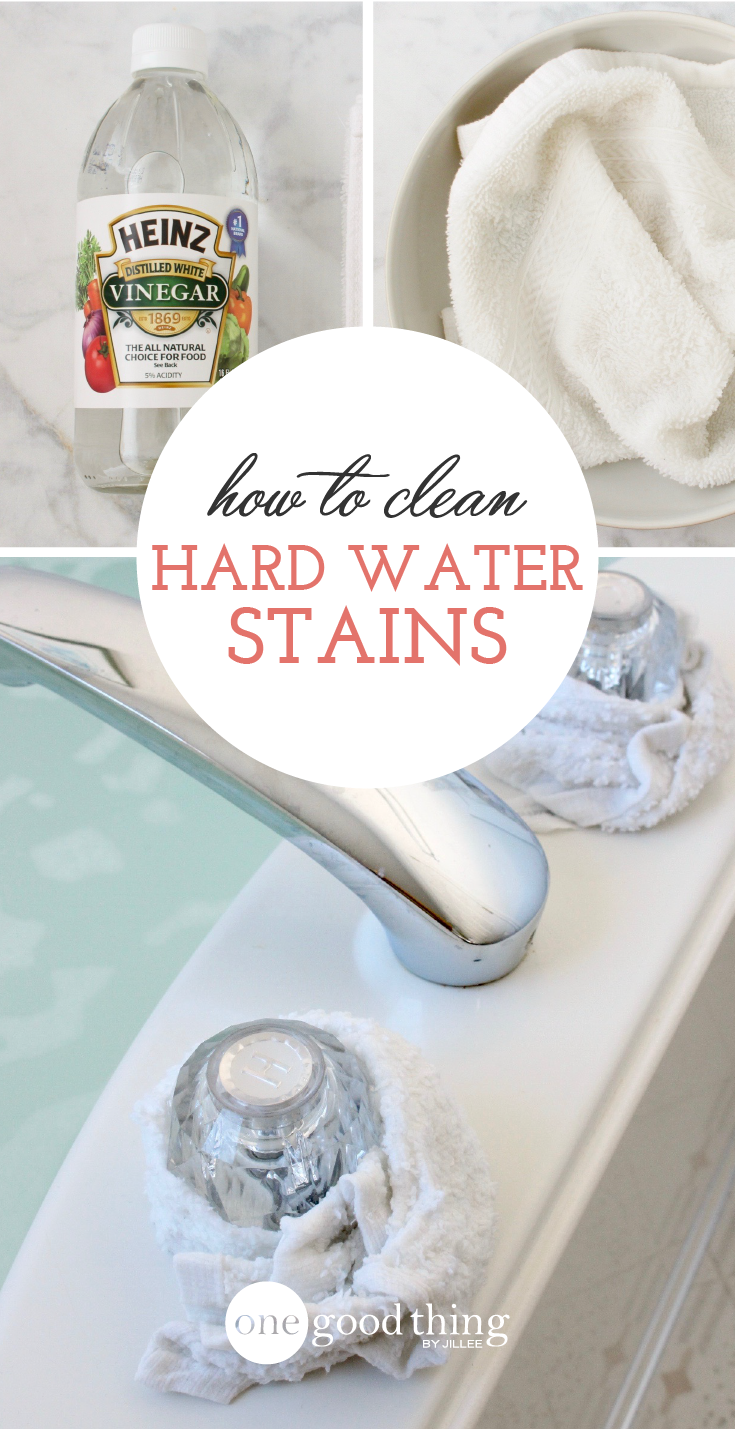 Learn how to remove hard water stains from your faucets, bathtub ...