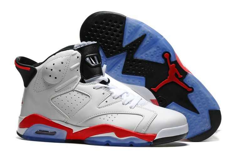 Cheap AirJordan 6 Retro White Black Fire Red
