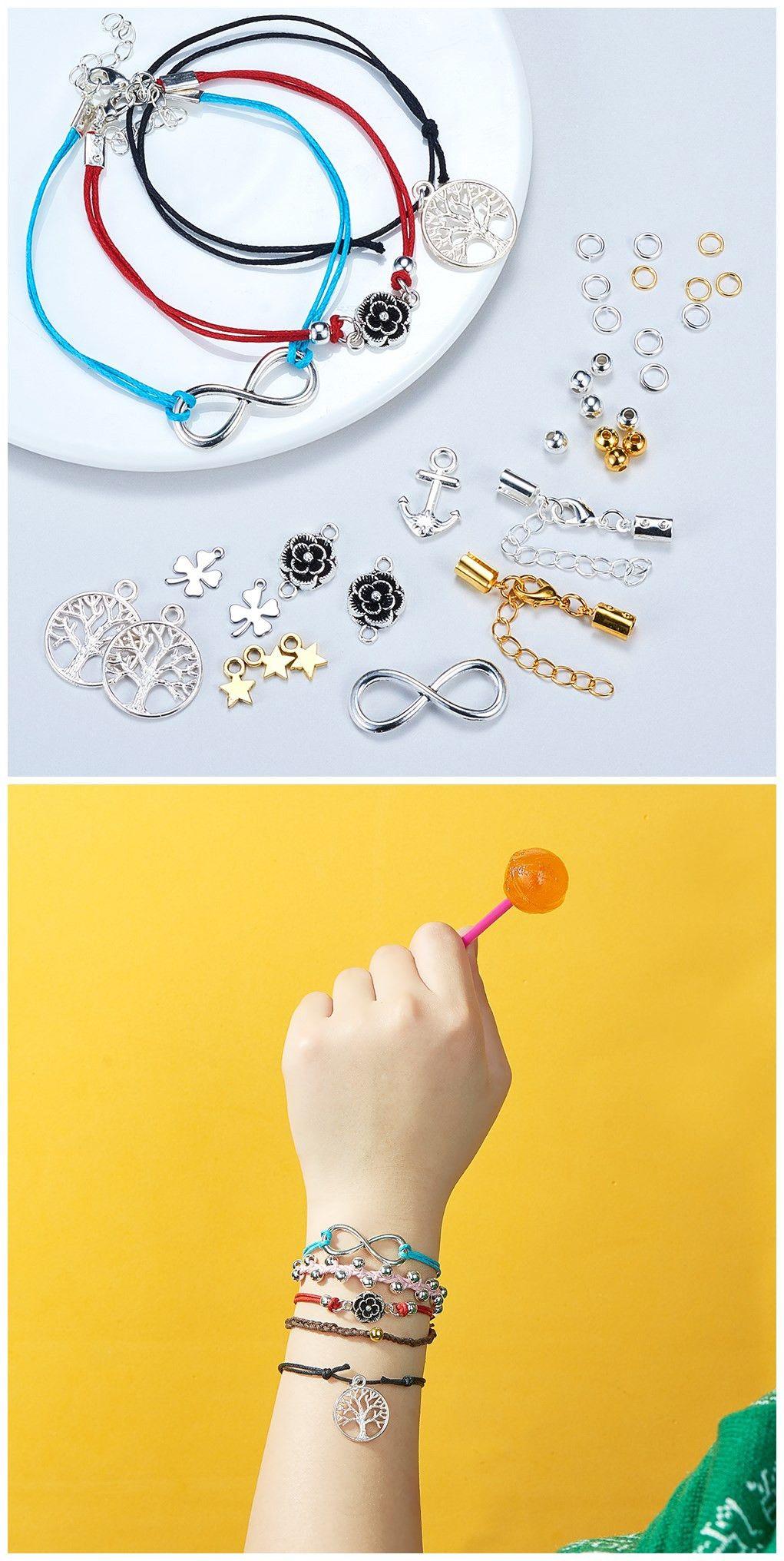 Sunnyclue set diy jewelry bracelet necklace making starter kit