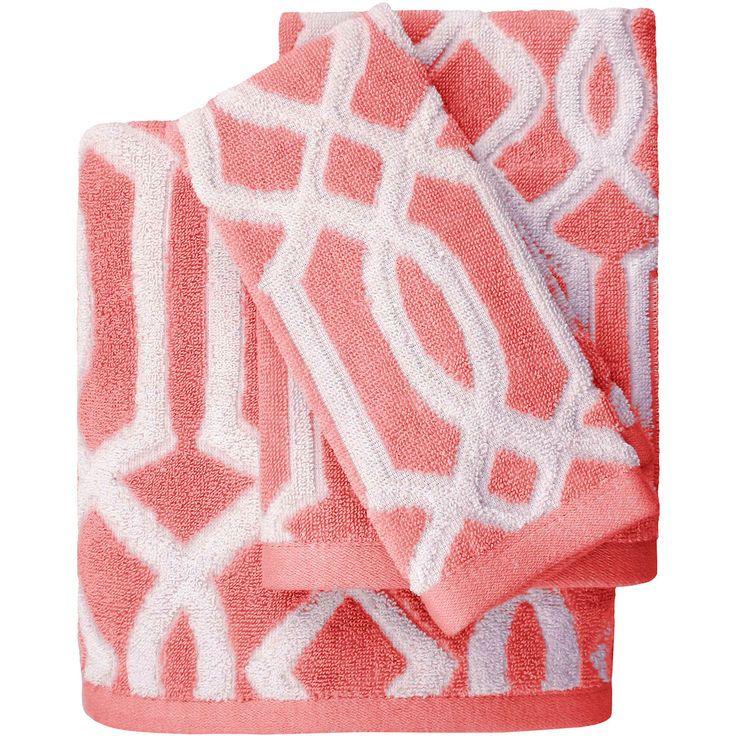 coral lucy jacques bath towel denise s pins in 2019 bath bath rh pinterest com