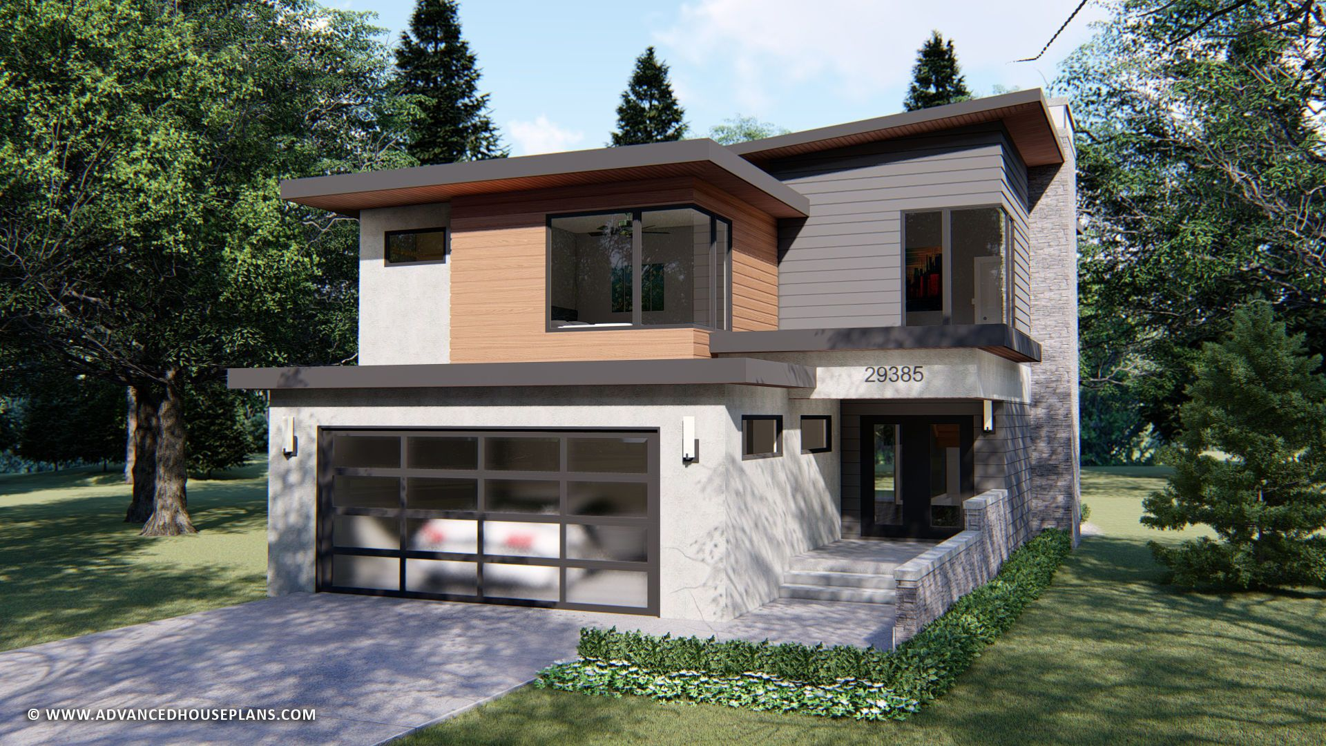 Commonwealth 2 Story Modern House Plan | Modern style house plans ...
