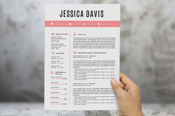 Black rose simple 2 pages resume template / cv by RoyalResume