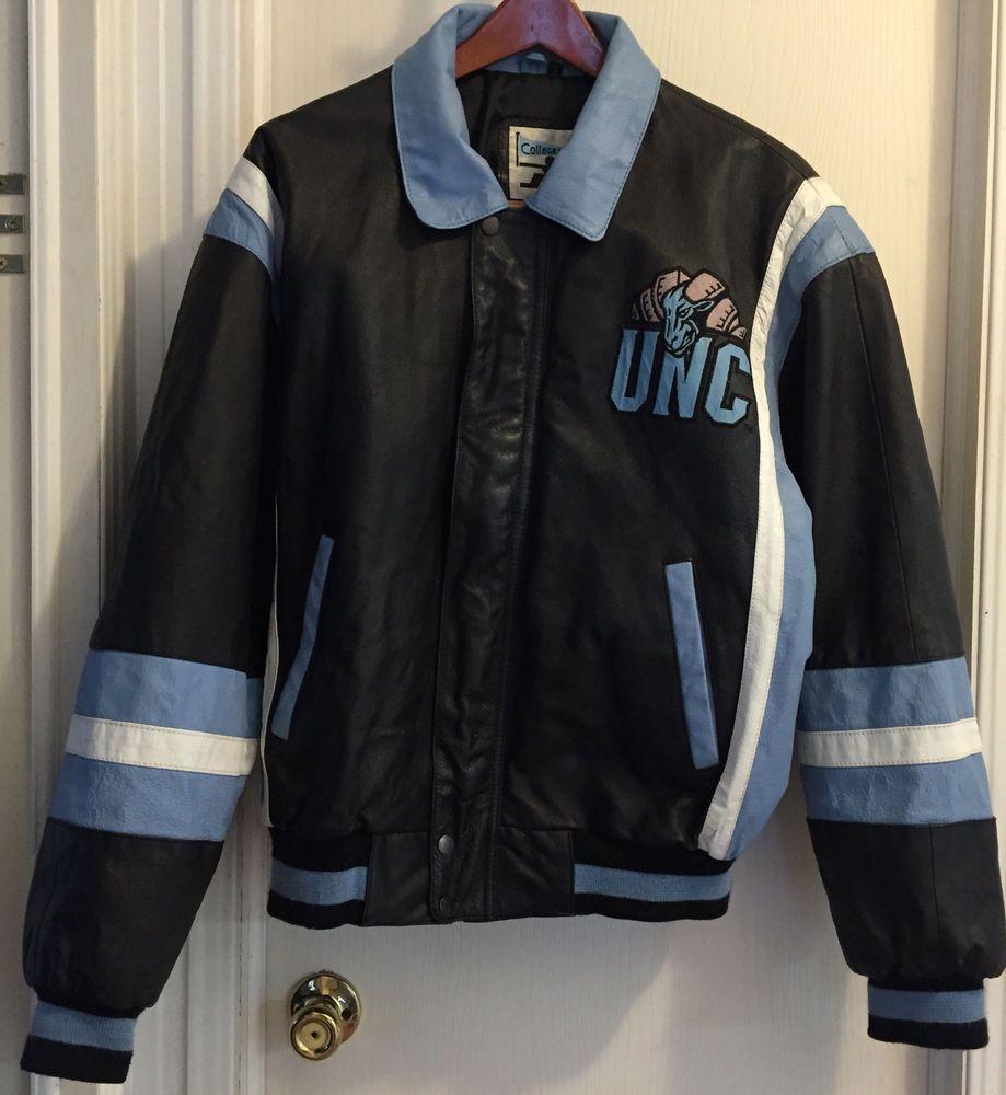 Unc Tar Heels Large Leather Jacket Coat College Phase North Carolina Black Coats Jackets Jackets Leather Jacket [ 1000 x 919 Pixel ]