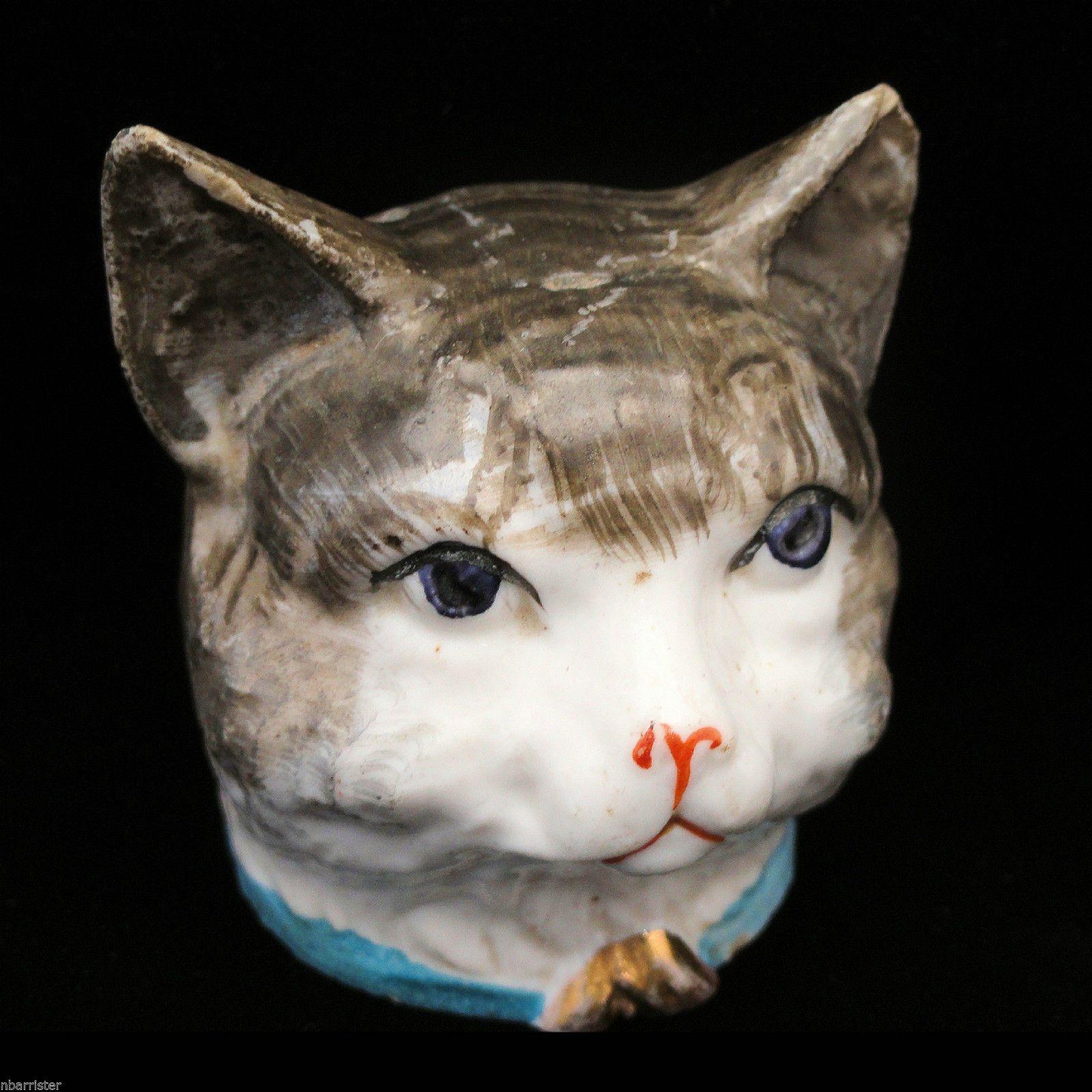 Rare Figural Cat Money Box Penny Bank England 1910 Kitten With Big Bow Penny Bank Kitten Cat Piggy Bank