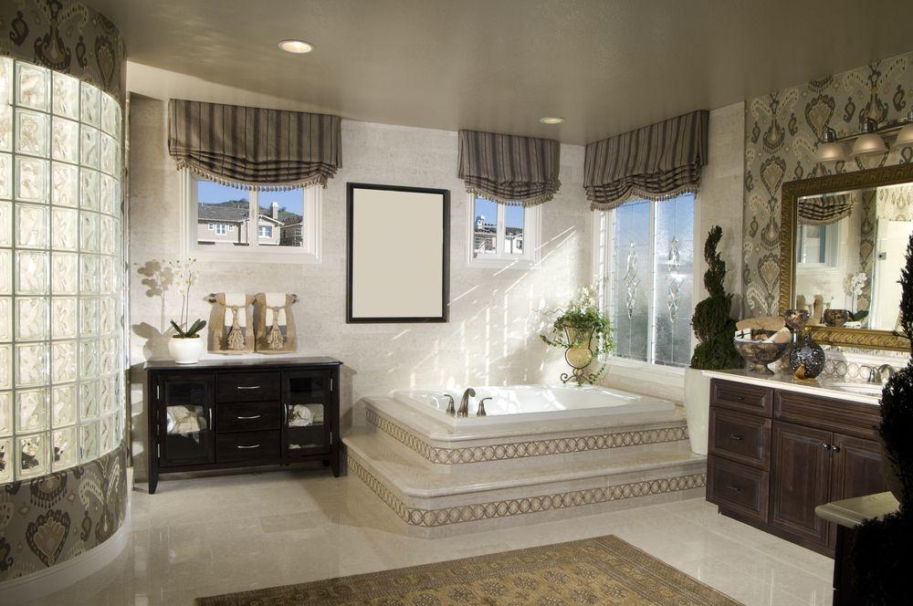 ideas for bathrooms decorating%0A      Luxury Custom Master Bathroom Designs