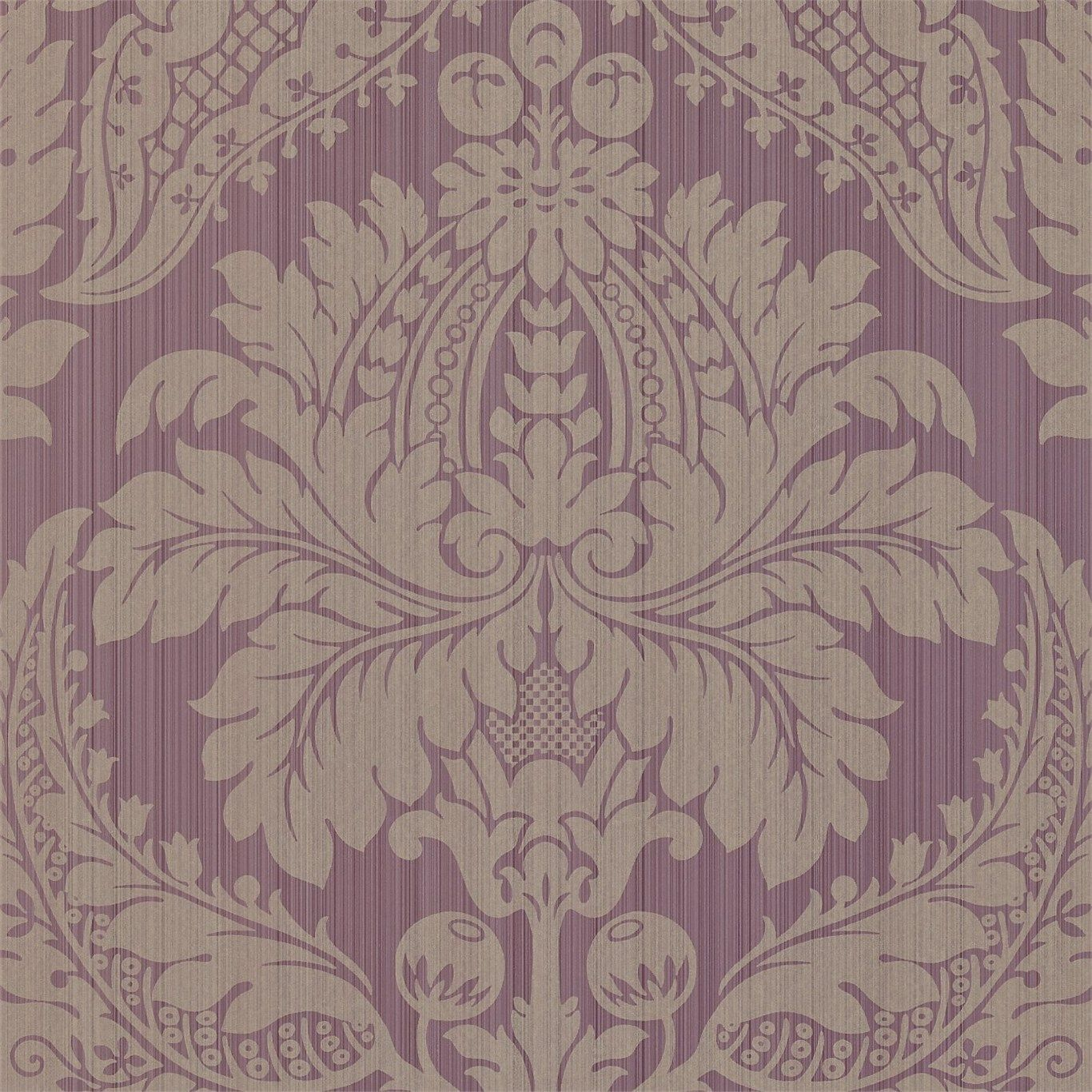 Zoffany - Luxury Fabric and Wallpaper Design | Products | British/UK Fabric and Wallpapers | Malmaison (ZSDA04006) | Strie Damask Wallpapers