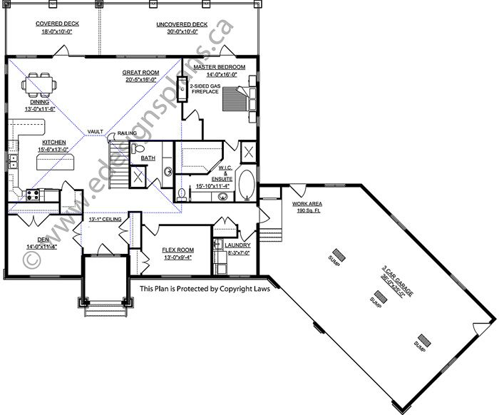 plan 2010528 high foyer open concept vaulted ceiling main floor rh pinterest com
