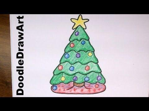 Drawing How To Draw A Cute Cartoon Christmas Tree Easy Step By Step Drawing Lesson Youtube Easy Drawings Christmas Tree Drawing Cool Drawings
