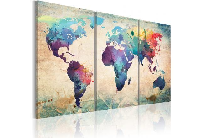 Tableau Moderne Le Monde Peint A L Aquarelle Umeni Abstrakt A