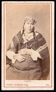 1860 Native Woman From Peru ~ French Photographer Courret Hermanos CDV in Collectibles, Photographic Images, Vintage & Antique (Pre-1940) | eBay