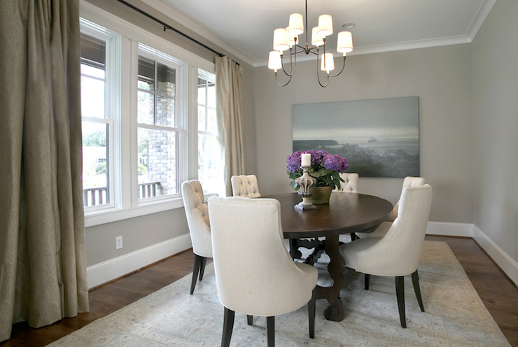 I LOVE This Small Dining Room. Suzie: Ashley Goforth Design   Gorgeous  Transitional Gray