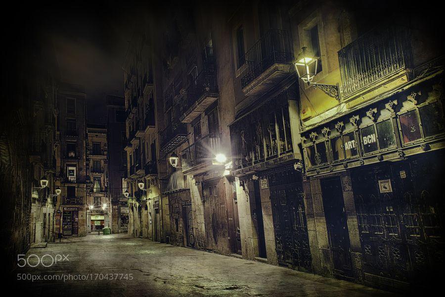Gothic Quarter Barcelona by aquanuke. @go4fotos