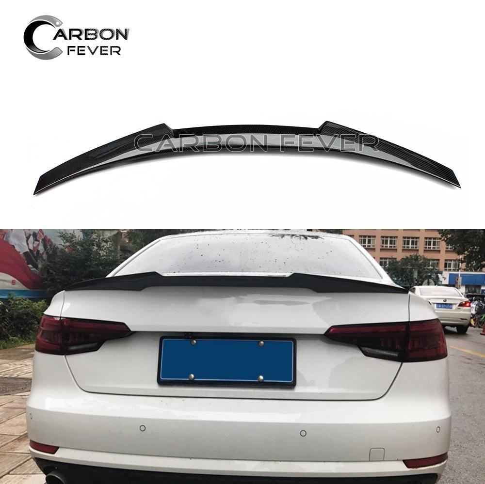 for audi a4 b9 carbon fiber rear spoiler trunk wing 2017 4 door rh pinterest com