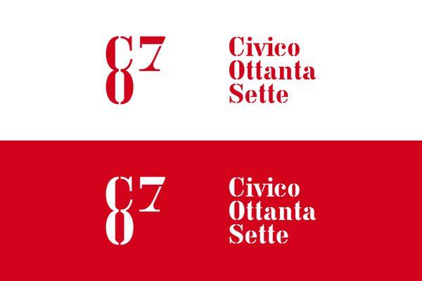logo / Civico 87 by Fil Marra