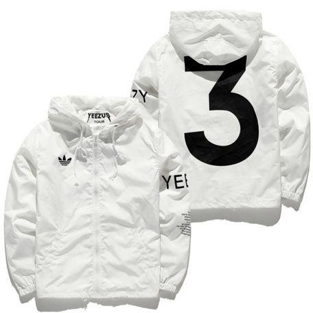 Us Size Kanye West Disorder World By La Yeezus Tour Jackets White Yeezy 3  Windbreaker Coat Outerwear