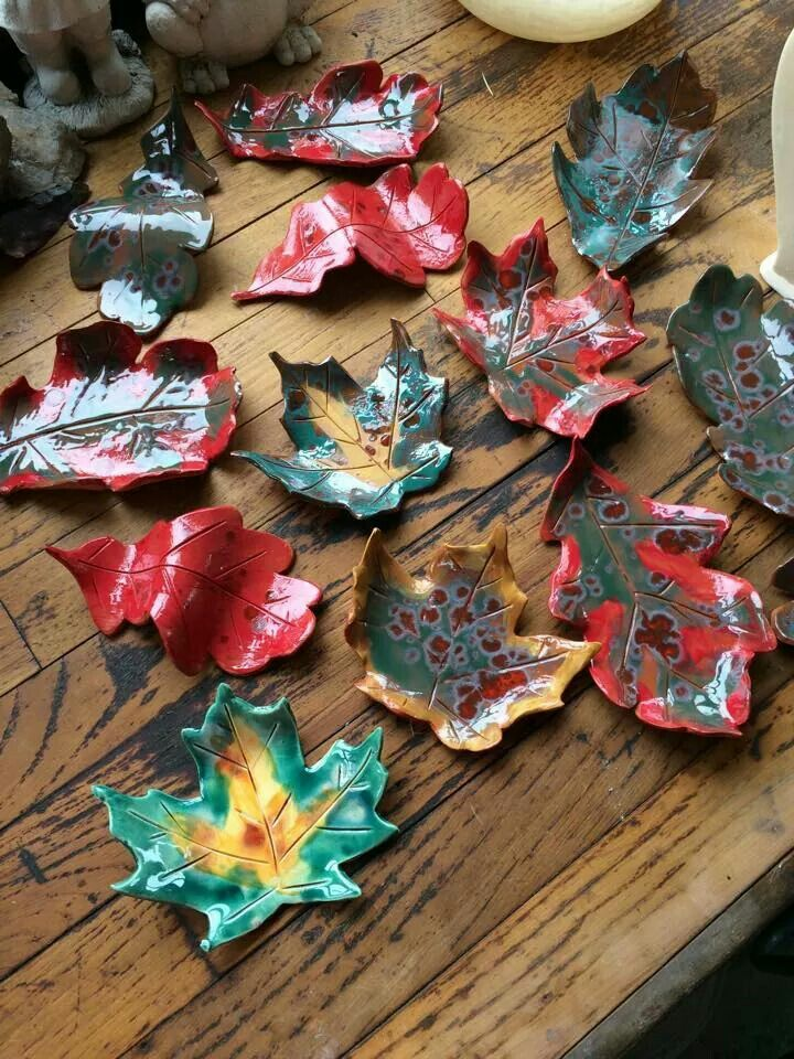 Love these for the fall! All Amaco glazes and underglazes with crystals