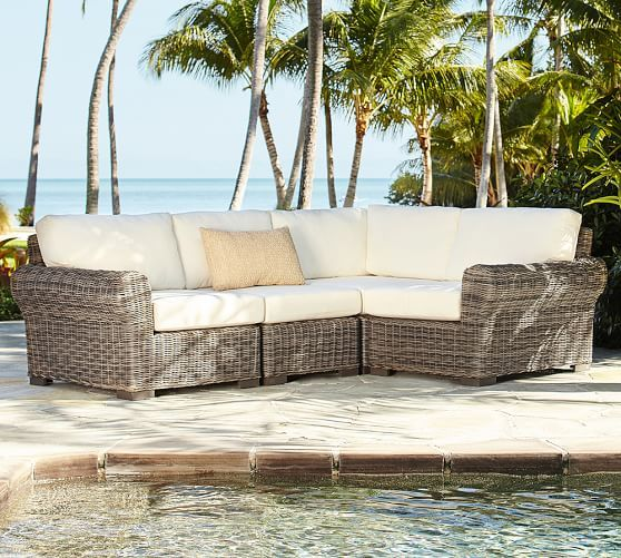 build your own huntington all weather wicker roll arm sectional rh pinterest com