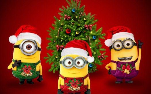 Xmas Santa Minions Minion Christmas Merry Christmas Minions Funny Christmas Wallpaper